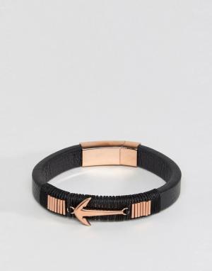 Steve Madden Кожаный браслет с отделкой в виде стрелы. Цвет: коричневый