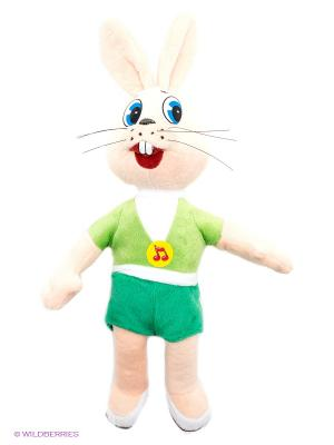 Мягкая игрушка Мульти-пульти Ну, погоди! заяц. Цвет: бежевый, зеленый