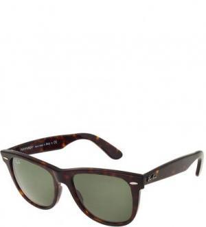 Очки-вайфареры с зелеными линзами Ray Ban. Цвет: коричневый