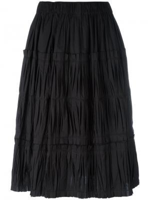 Pleated midi skirt Sara Lanzi. Цвет: чёрный