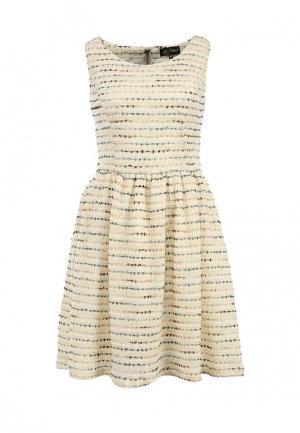 Платье LuAnn. Цвет: бежевый