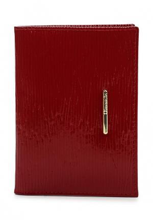Обложка для документов Dimanche. Цвет: красный