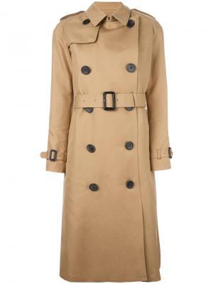 Двубортное пальто The Reracs. Цвет: телесный