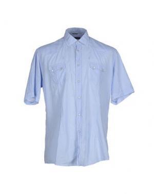 Pубашка DANIELE ALESSANDRINI. Цвет: небесно-голубой