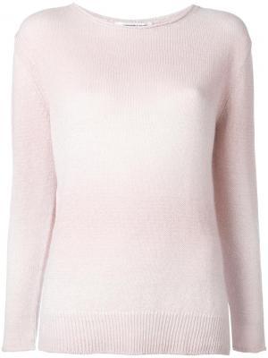Джемпер с круглым вырезом Lamberto Losani. Цвет: розовый и фиолетовый