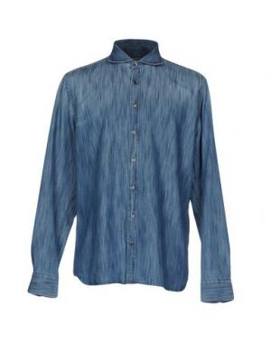 Джинсовая рубашка SEVENTY by SERGIO TEGON. Цвет: синий