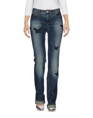 Джинсовые брюки KRIZIA JEANS. Цвет: синий