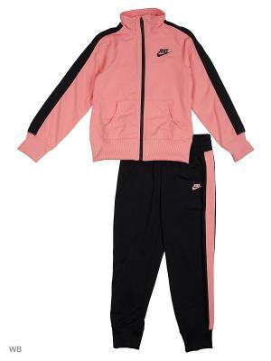 Костюм G NSW TRK SUIT TRICOT Nike. Цвет: розовый, черный