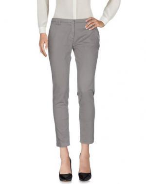 Повседневные брюки ELEVENTY. Цвет: серый