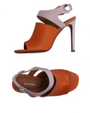 Сандалии CARVEN. Цвет: оранжевый