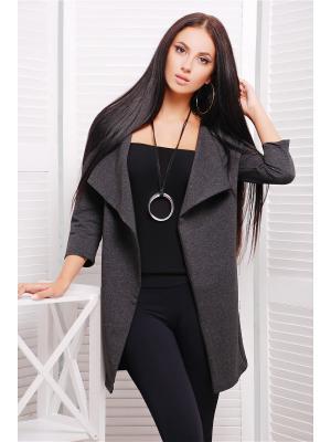 Кардиган Fashion Up. Цвет: темно-серый