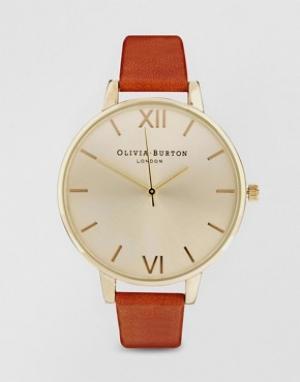 Olivia Burton Светло-коричневые часы с большим циферблатом. Цвет: коричневый