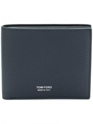 Классический бумажник Tom Ford. Цвет: синий