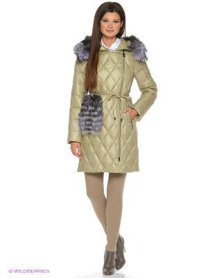 Стеганое пальто FREYA. Цвет: оливковый