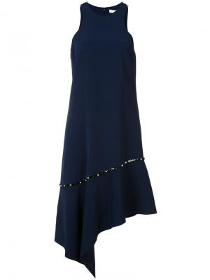 Asymmetric dress Jonathan Simkhai. Цвет: синий