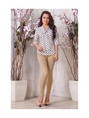 Блуза LIORA. Цвет: бежевый