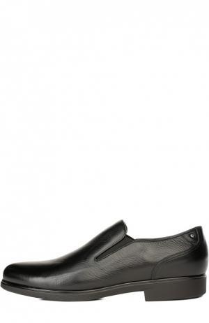 Кожаные лоферы с меховой стелькой Aldo Brue. Цвет: черный
