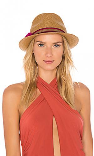 Плетеная шляпа Hat Attack. Цвет: коричневый