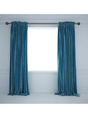Комплект штор Верона Tricotika. Цвет: синий