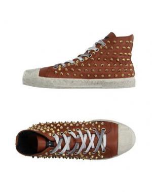 Высокие кеды и кроссовки GIENCHI. Цвет: коричневый