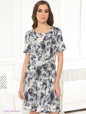 Платье PEPE JEANS LONDON. Цвет: молочный, серый