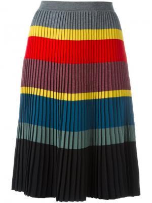 Плиссированная юбка в полоску Tomas Maier. Цвет: многоцветный