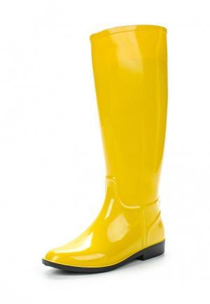 Резиновые сапоги Sandra. Цвет: желтый