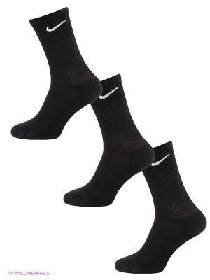 Носки CTN CUSH CREW W/ MOIST, 3 пары Nike. Цвет: черный