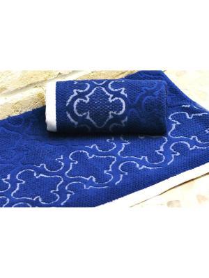 Полотенце махровое 70х140 ЛАГУНА тем.синий TOALLA. Цвет: темно-синий