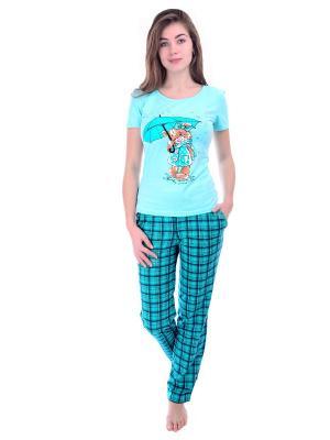 Пижама Малина. Цвет: бирюзовый