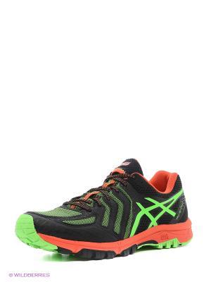 Кроссовки GEL-FujiAttack 5 ASICS. Цвет: черный, зеленый, оранжевый