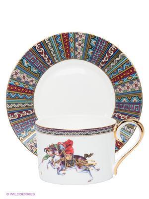 Чайный набор Восточное Поло Pavone. Цвет: белый, фиолетовый