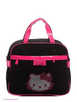 Сумка Hello Kitty. Цвет: черный, фуксия