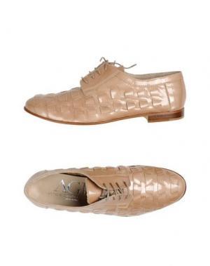 Обувь на шнурках AGL ATTILIO GIUSTI LEOMBRUNI. Цвет: телесный