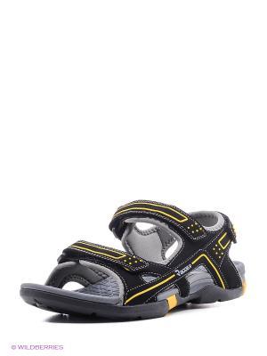 Мужские сандалии Radder. Цвет: черный, желтый
