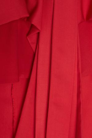 Однотонное платье-халат Eloshi Sinaze. Цвет: красный