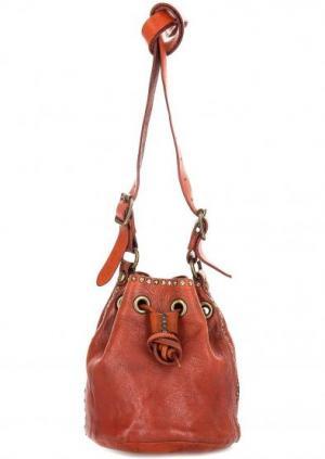 Маленькая сумка-мешок Campomaggi. Цвет: оранжевый