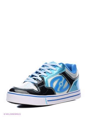 Роликовые кроссовки Heelys. Цвет: голубой, черный