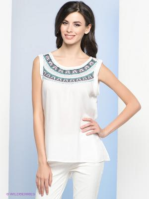 Блузка Vis-a-vis. Цвет: белый, серый