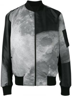 Двусторонняя куртка бомбер с принтом Christopher Raeburn. Цвет: чёрный