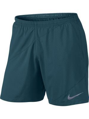 Шорты M NK FLX SHORT 7IN DISTANCE Nike. Цвет: синий, зеленый