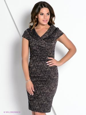 Платье КАЛIНКА. Цвет: коричневый