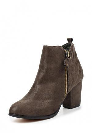 Ботильоны HF Shoes. Цвет: зеленый