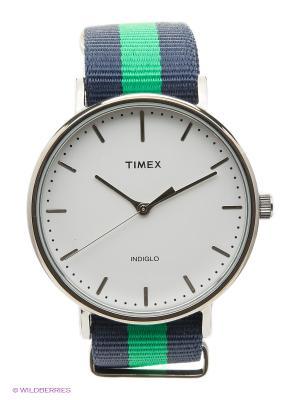 Часы TIMEX. Цвет: синий, зеленый