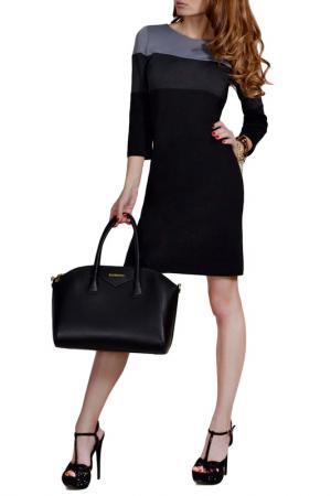 Платье FRANCESCA LUCINI. Цвет: черный, меланж, серый