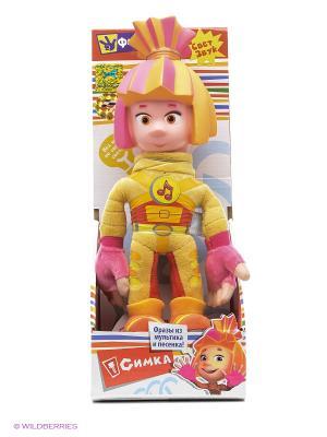 Мягкая игрушка Мульти-Пульти фиксики. Симка 28см, руссифицрованная со светом. Цвет: желтый, розовый