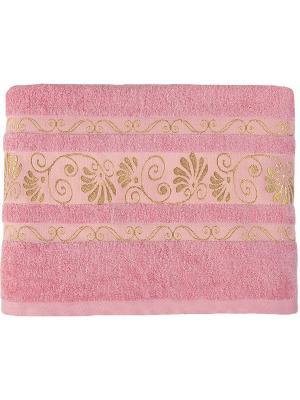 Полотенце BONITA. Цвет: розовый, золотистый
