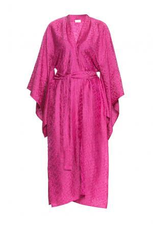 Халат из шелка с поясом 149425 Shams. Цвет: розовый