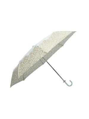 Складной зонт MollyMarais. Цвет: золотистый, белый