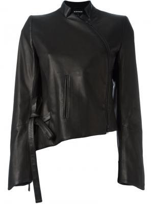 Асимметричная кожаная куртка Ann Demeulemeester. Цвет: чёрный